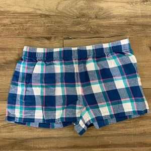 Other - Women's Blue and Pink Plaid Pajama Shorts